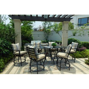 Celestine High Swivel 9 Piece Dining Set with Cushions