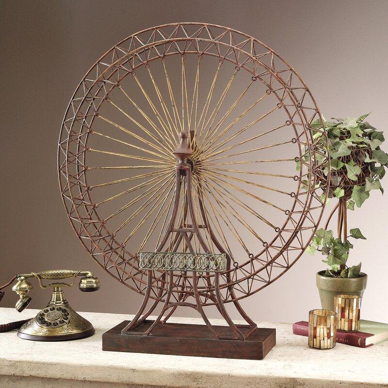Design Toscano The Grande Exposition Ferris Wheel Décor Sculpture ...