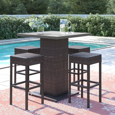 Stratford 5 Piece Bar Height Dining Set by Sol 72 Outdoor Discount