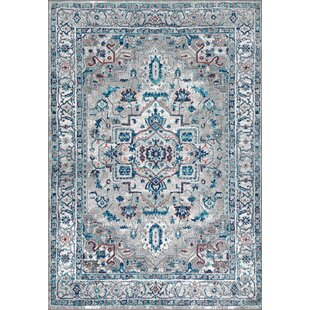 Price comparison Lawrence Hill Modern Persian Vintage Medallion Light Gray/Light Pink Area Rug By Charlton Home