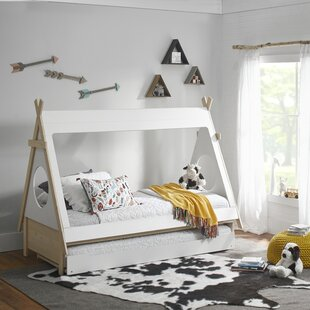 Sahara Triangular Play Tent Twin Bed with Trundle by Ti Amo