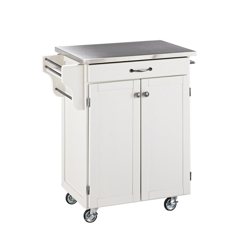 Delicieux Savorey Kitchen Cart With Stainless Steel Top