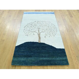 Inexpensive One-of-a-Kind Becker Pictorial Design Hand-Knotted Wool Area Rug By Isabelline