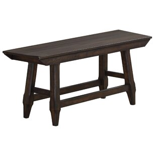Carmon Wood Bench by Gracie Oaks