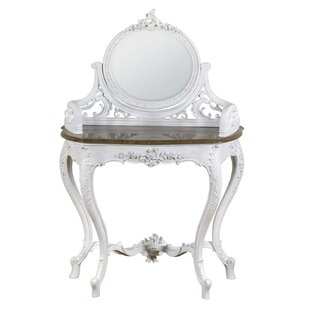 Dressing Table With Mirror By Fleur De Lis Living