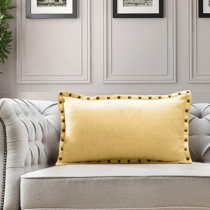 Fabulous Hobdy Herringbone Lumbar Pillow Theyellowbook Wood Chair Design Ideas Theyellowbookinfo