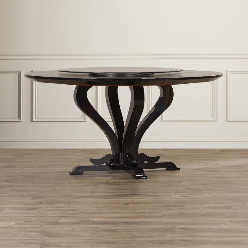 Mercer41 Burgess Hill Round Crocodile Lacquer Dining Table