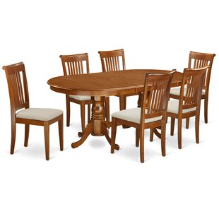 Germantown 7 Piece Drop Leaf Solid Wood Dining Set DarHome Co
