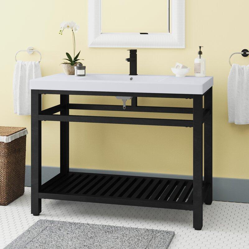 Bay Isle Home Fleischmann 42 Single Bathroom Vanity Set Reviews Wayfair