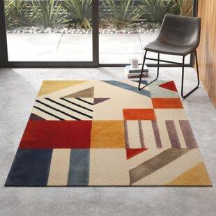 Modern Orange Wool Area Rugs Allmodern