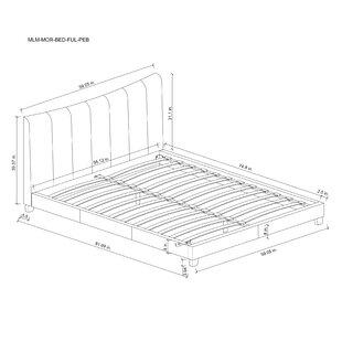 Ivy Bronx Emilio Pebble Channel Upholstered Platform Bed
