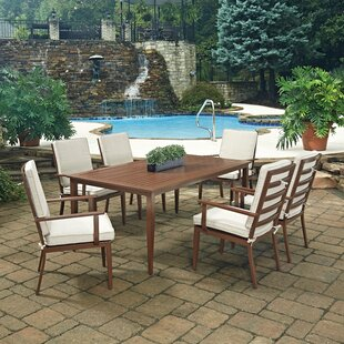 Mauricio 7 Piece Dining Set With Cushion by Longshore Tides Best #1