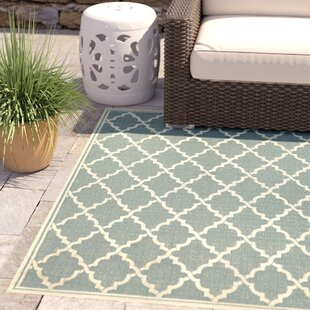 Price comparison Crigler Ocean Port Light Turquoise Indoor/Outdoor Area Rug By Charlton Home