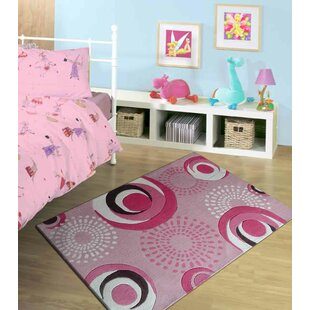 Zoomania Dancing Circles Pink Children S Area Rug By Rug Factory