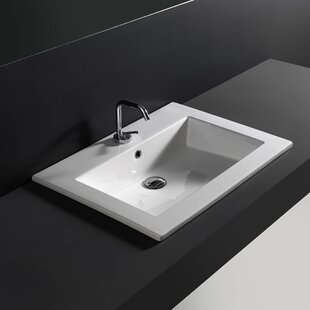 Top Ceramic Rectangular Drop-In Bathroom Sink with Overflow ByWS Bath Collections