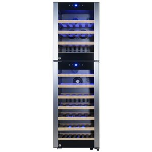 53 Bottle Dual Zone Freestanding Wine Cooler by AKDY