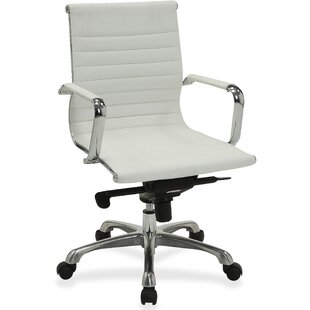 Lorell Modern Management Chair Mid-Back Leather Executive Chair