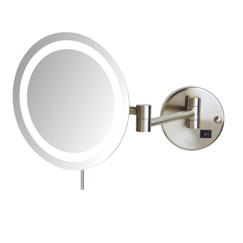 Palumbo Led 8x Magnifying Wall Mount Makeup Mirror
