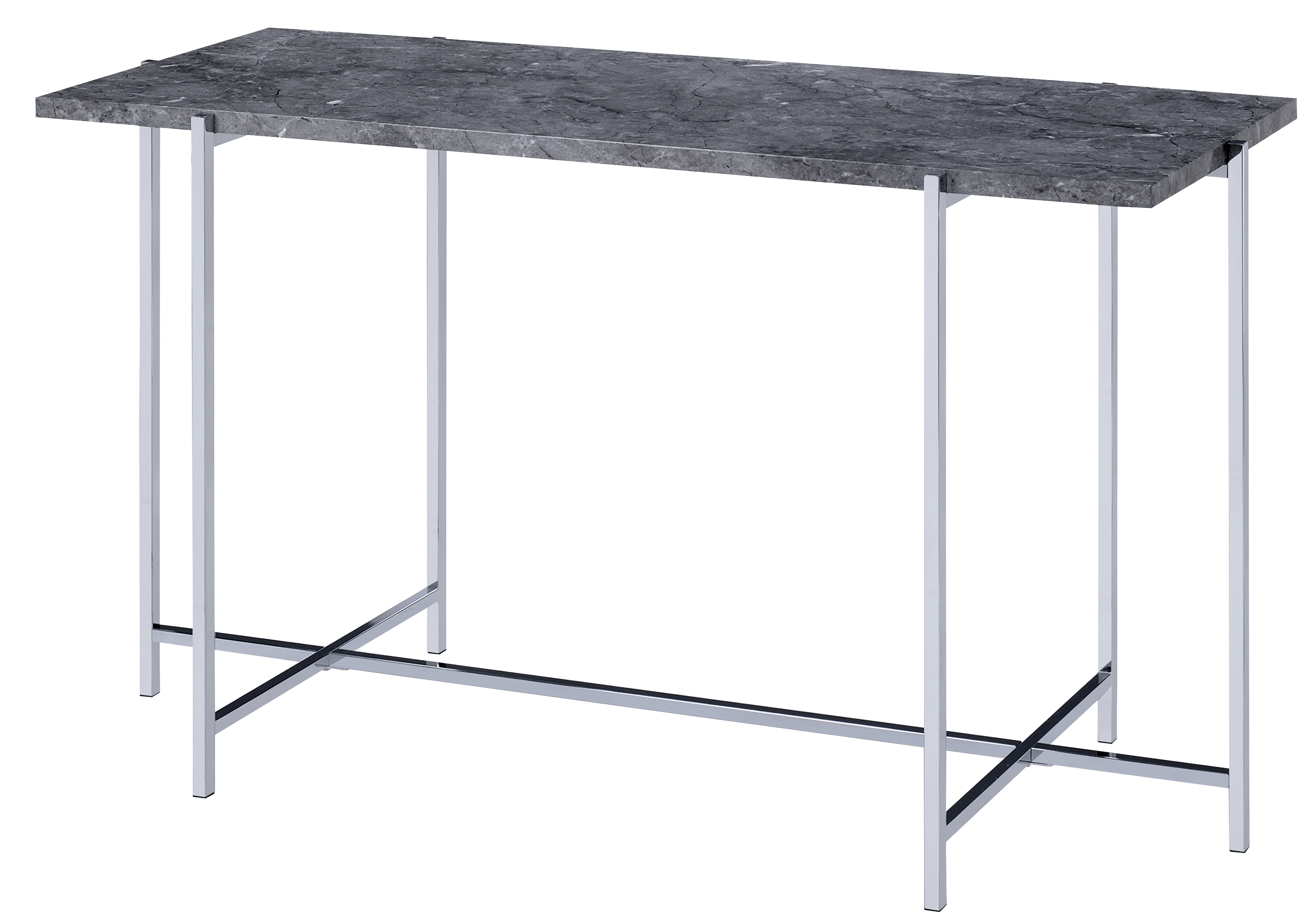 Contemporary Marble Top Sofa Table