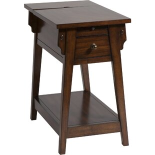Best Reviews Amboyer Chairside Table in Dark Honey By Darby Home Co