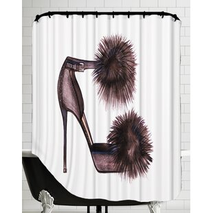 Pom Pom Heels Shower Curtain By East Urban Home
