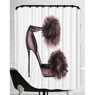 Pom Pom Heels Shower Curtain by East Urban Home