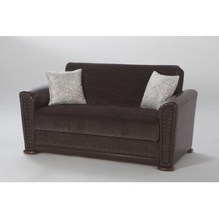 Compare prices Harlee Brown Love Seat by Brayden Studio Reviews (2019) & Buyer's Guide