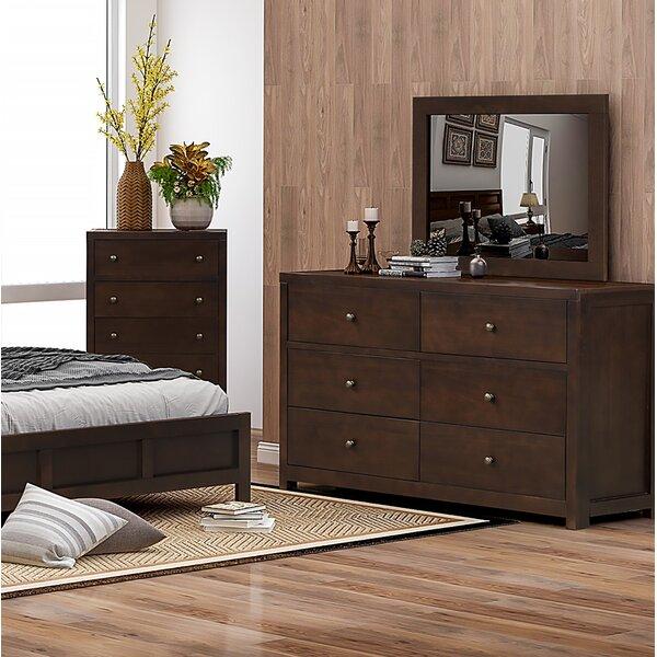 Red Barrel Studio Arabel 6 Drawer Double Dresser With Mirror Wayfair