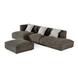Fife 136 Left Hand Facing Sectional with Ottoman by Latitude Run®