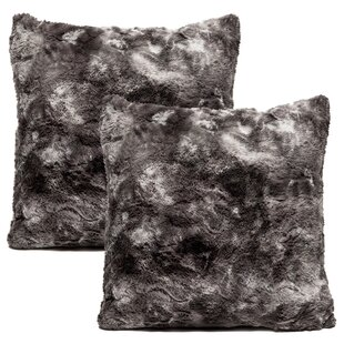 Super Soft Elegant Faux Fur Throw Pillow Case (Set of 2)