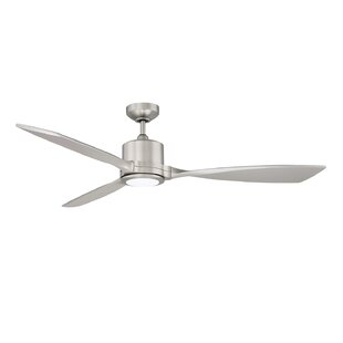 Compare 60 Amdt 3 Blade LED Ceiling Fan with Remote By 17 Stories