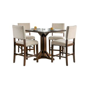 Burkitt Counter Height Solid Wood Dining Table