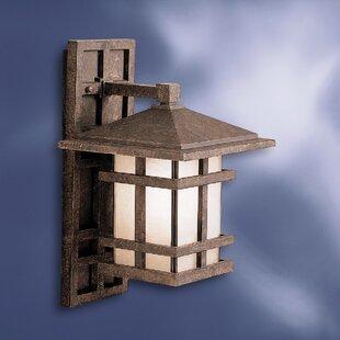 Harper 1-Light Outdoor Wall Lantern by Loon Peak