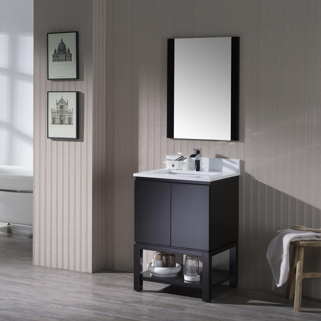 Orren Ellis Maly 14 Single Bathroom Vanity Set With Mirror Wayfair