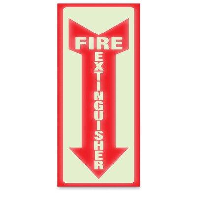 Glow Fire Extinguisher Sign U.S. Stamp & Sign
