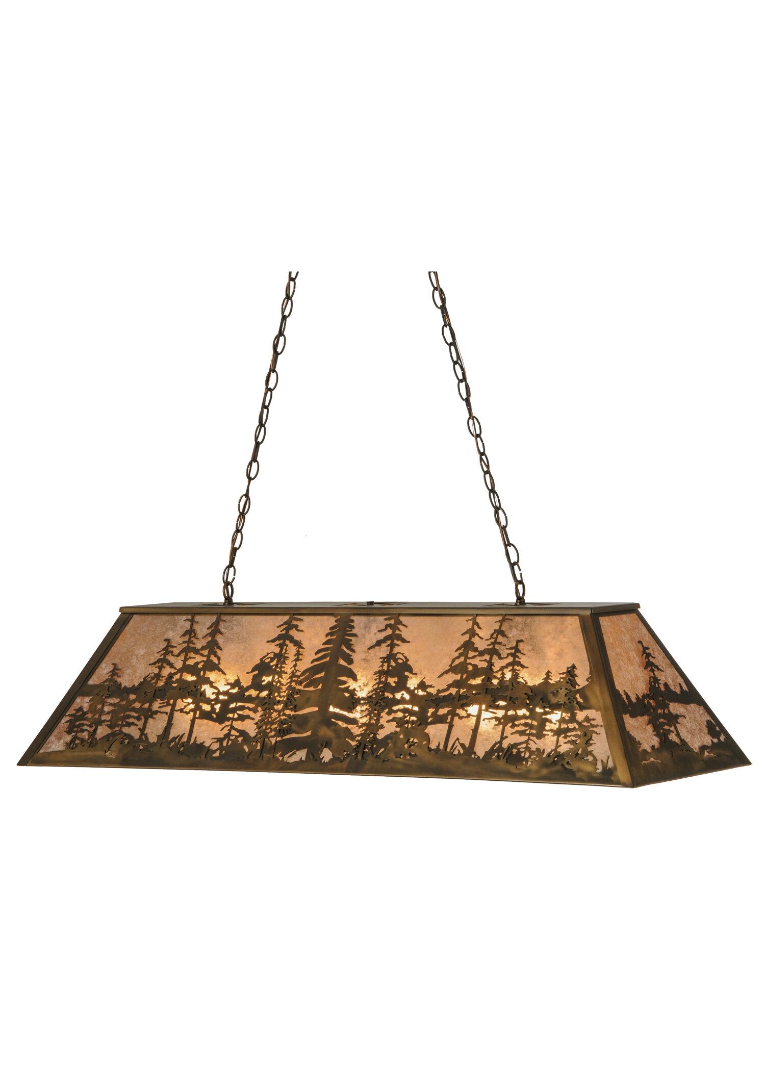 Meyda Tiffany Tall Pines Light Pool Table Pendant Wayfair - How tall is a pool table
