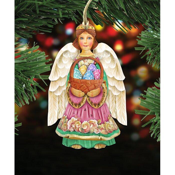 Angel Shaped Christmas Tree.Easter Angel Hanging Shaped Wood Ornament