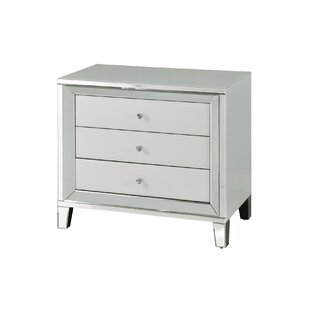 Monteiro Beveled 3 Drawer Accent Chest By House of Hampton
