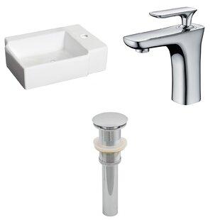 Best Ceramic Rectangular Bathroom Sink with Faucet ByAmerican Imaginations