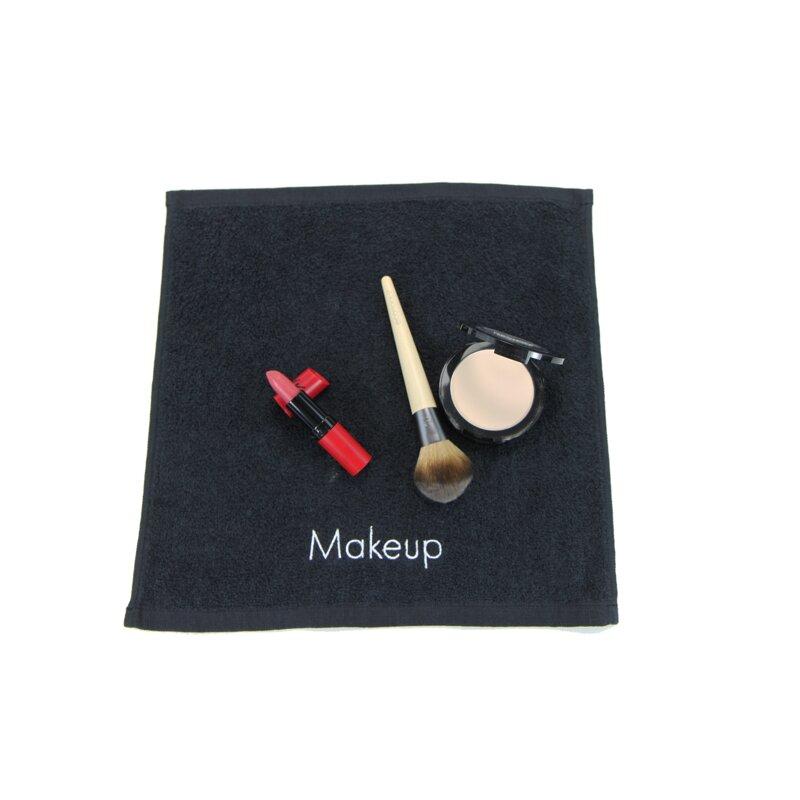 ghdonat.com Towels Bath 6 Piece Set Black Make-up Washcloths