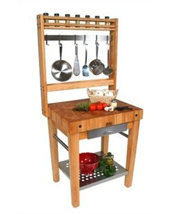 Cucina Americana Prep Table with Butcher Block Top John Boos