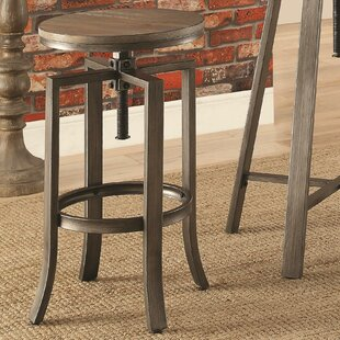 Tadashi Adjustable Height Bar Stool (Set Of 2) by 17 Stories Today Only Sale