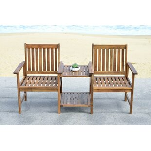 Brea Acacia Twin Seat Garden Bench by Loon Peak