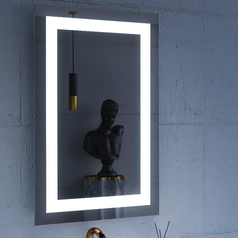 Orren Ellis Emelda Lighted Bathroomvanity Mirror Wayfair