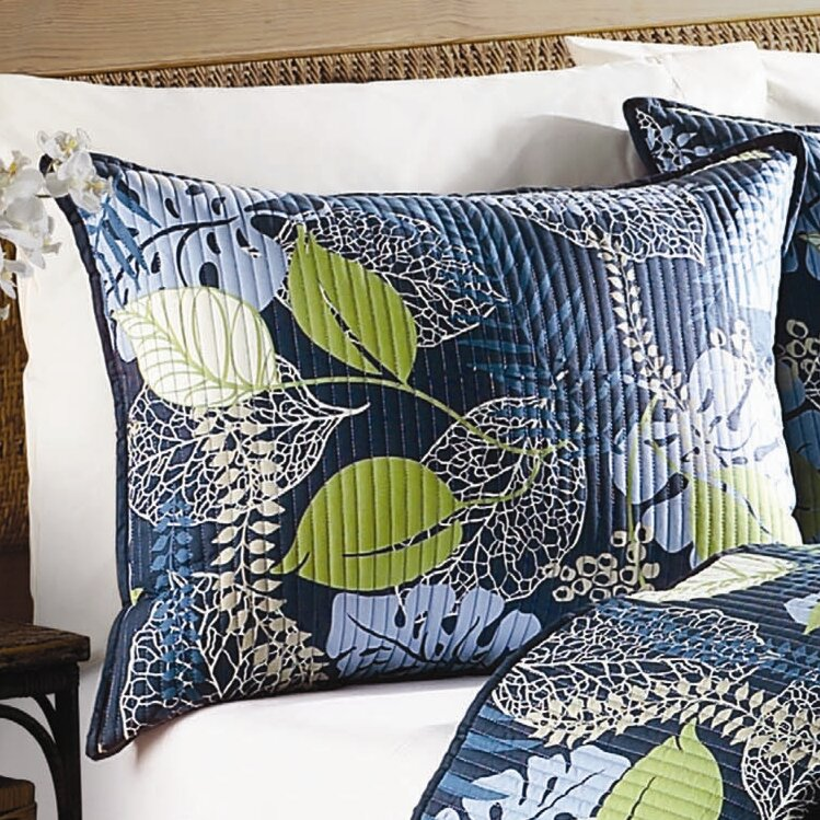 Bay Isle Home Denning Tropical Leaves Quilt Collection Reviews Wayfair Tropical quilts & coverlets : denning tropical leaves quilt collection