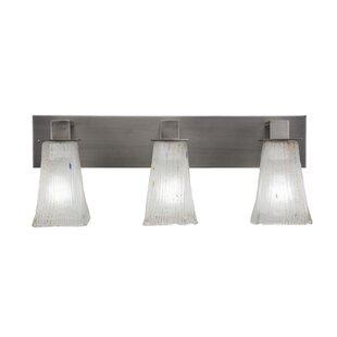 Red Barrel Studio Elburn 3-Light Glass Shade Vanity Light