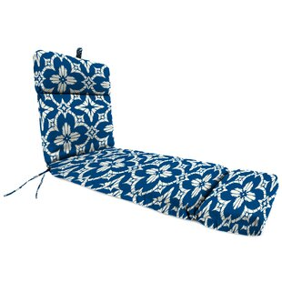 Spun Polyester Indoor/Outdoor Chaise Lounge Cushion