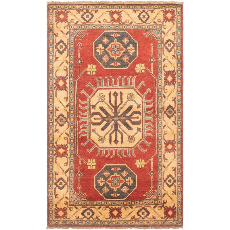 Bloomsbury Market One Of A Kind Aryanna Hand Knotted 2010s Uzbek Gazni Red 3 4 X 5 7 Wool Area Rug Wayfair