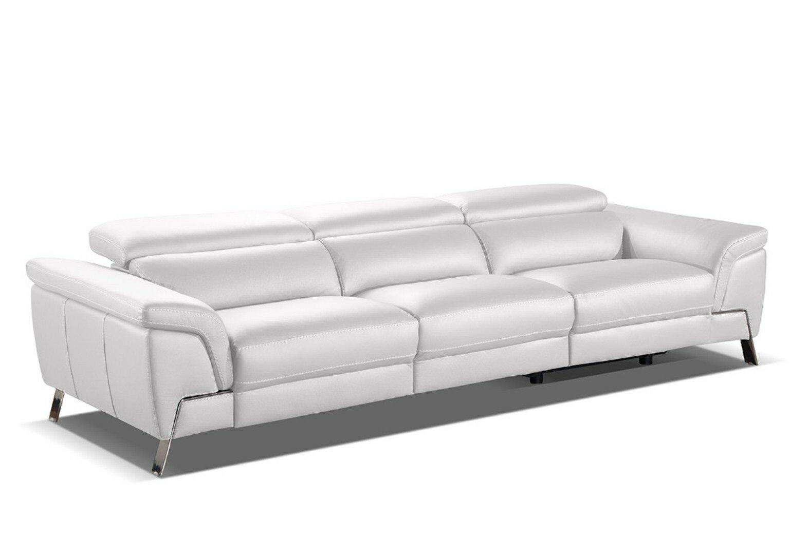 Farrand Genuine Leather Reclining Sofa