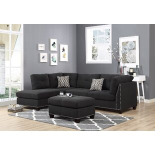 Brayden Studio Lach Sectional with Ottoman